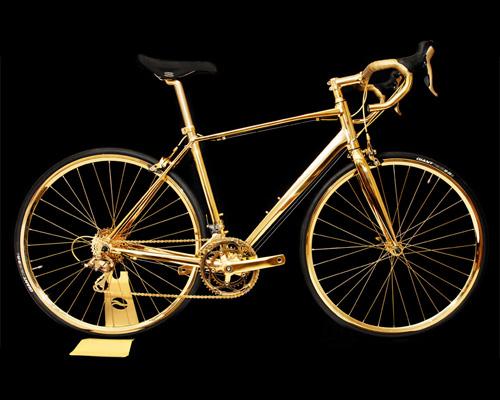 goldgenie 打造出用钻石点缀的限量版24K纯金自行车