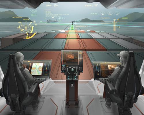 劳斯莱斯 oX bridge概念将未来全自动轮船可视化
