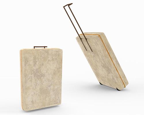 panos velentzas 将蘑菇作为木制行李箱的保护层