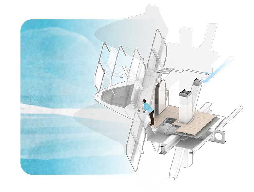 核心提示:建筑师eduardo camarena为了完成他最后的硕士论文项目,设计了一个位于在圣保罗市中心的垂直 城市 方案。该项目包含了一组垂直的分散式公共空间以及一家钟点胶囊旅馆。该建筑如漂浮物般建在一个更大的公共区域上,该公共区域向外延伸,并在被高速公路分隔的三个 城市 方向之间创造出了一个全新的可供步行空间。