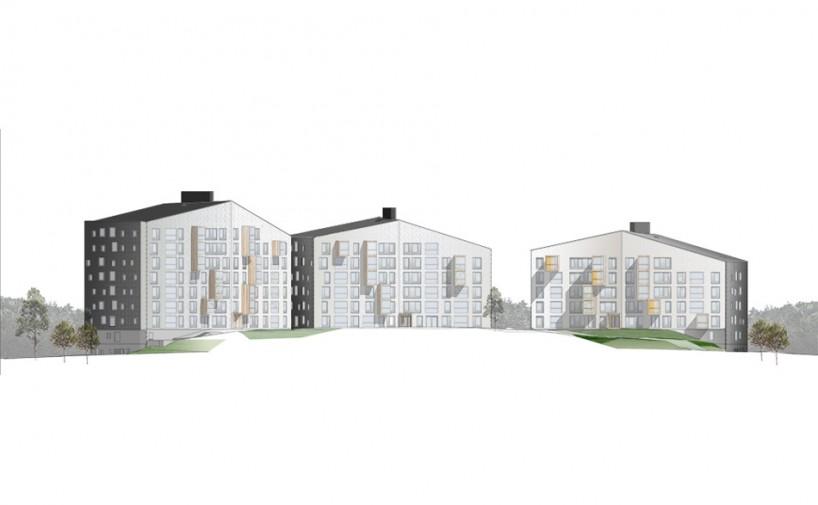 多层房屋立面图手绘