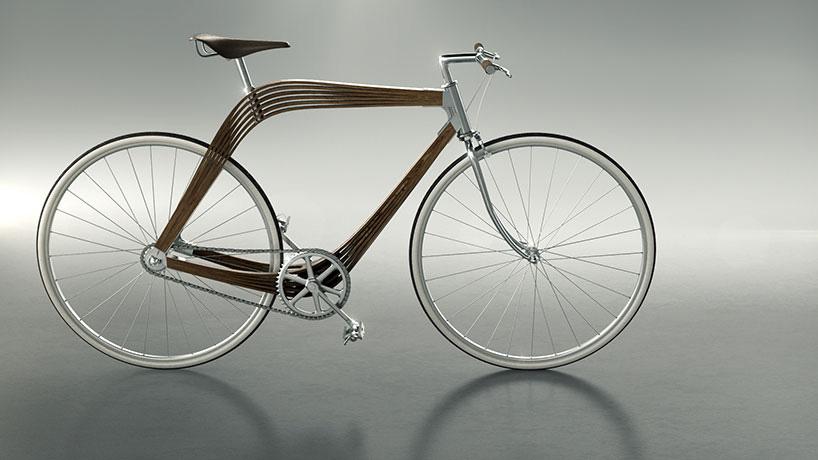 """复合木材框架""""aero""""自行车亮相2015米兰时尚设计周"""