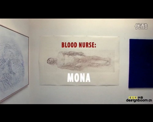 ted lawson用血液打印出自己的裸体自画像
