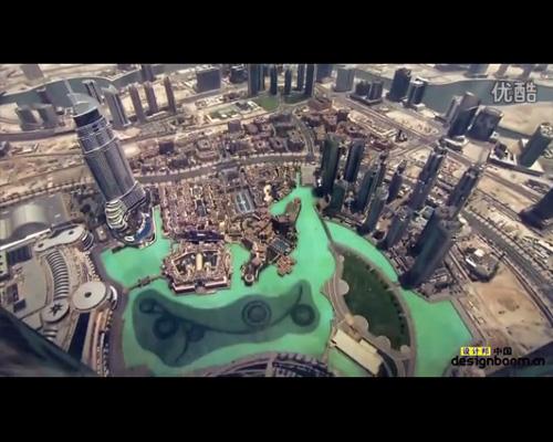 谷歌街景地图拍摄迪拜塔过程