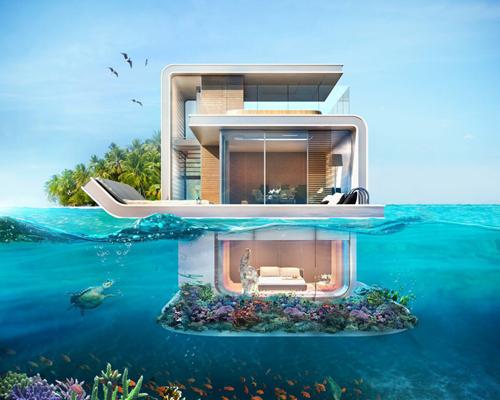 """一半在海上,一半在海中:迪拜开发商漂浮漂浮别墅三层海下别墅""""打造史密斯豪宅v别墅图片"""