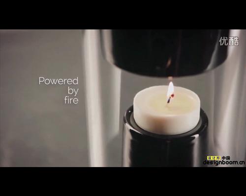 用蜡烛驱动的蓝牙播放器