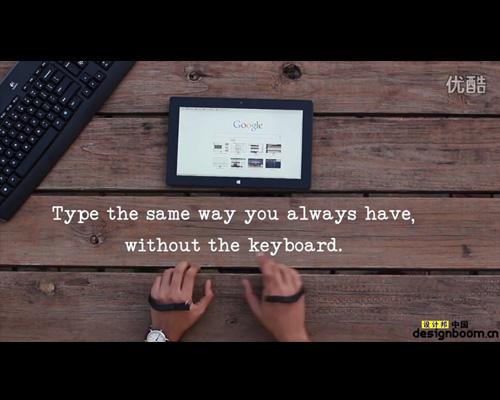 AirType:手掌上的空气蓝牙键盘