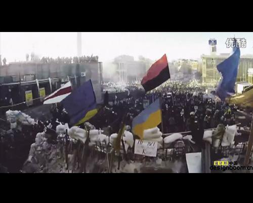 沉默呐喊面具成为乌克兰独立呼声的象征