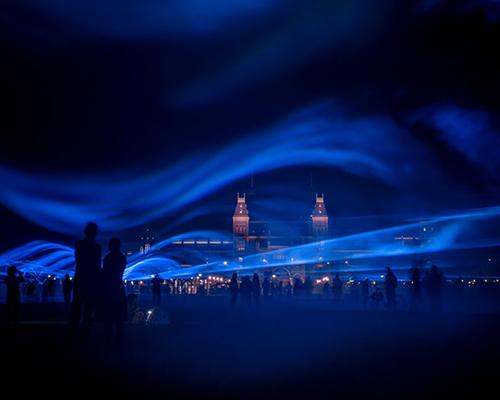 阿姆斯特丹博物馆广场的光之迷幻舞曲