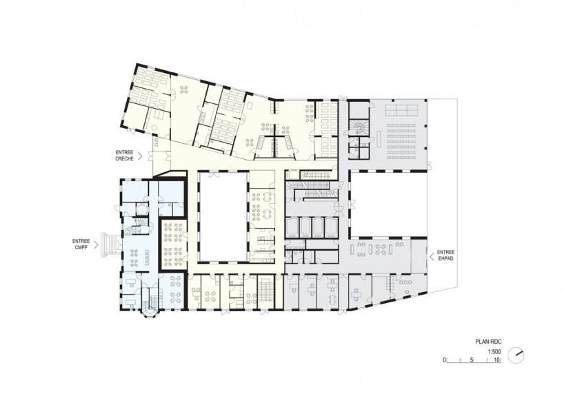 疗养院与康复中心平面设计