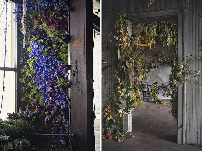 手绘藤蔓绿植窗户