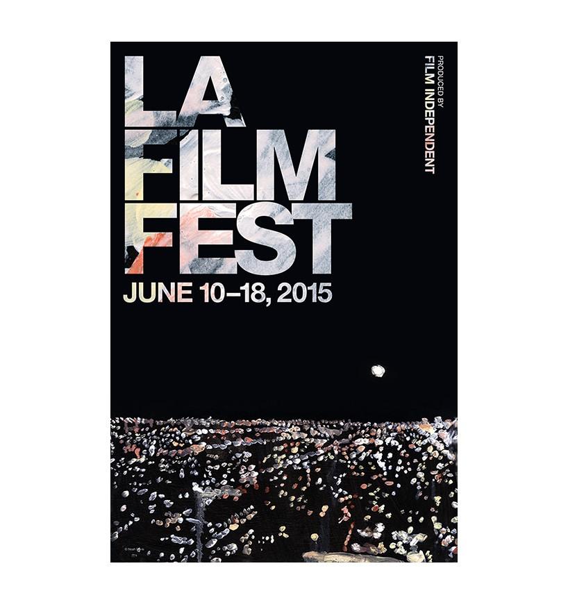 2015年洛杉矶电影节海报—— noah davis的艺术作品,由pentagram设计