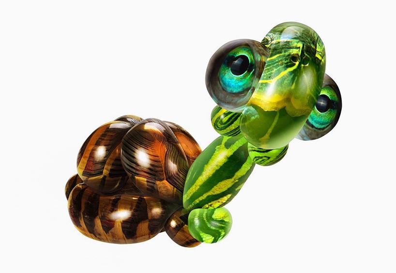 气球艺术乌龟做法图解