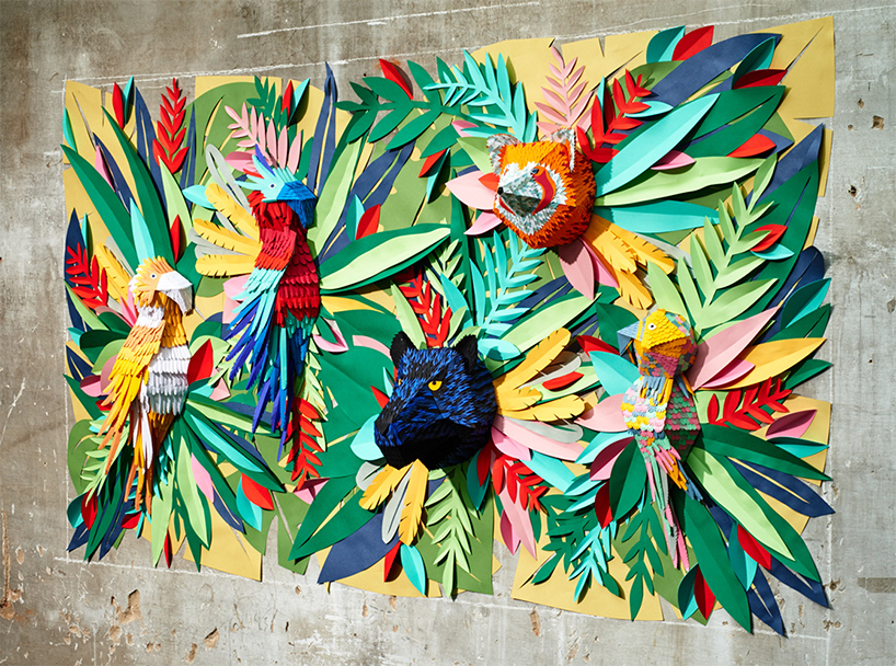 """纯手工切纸制作的""""热带雨林"""""""