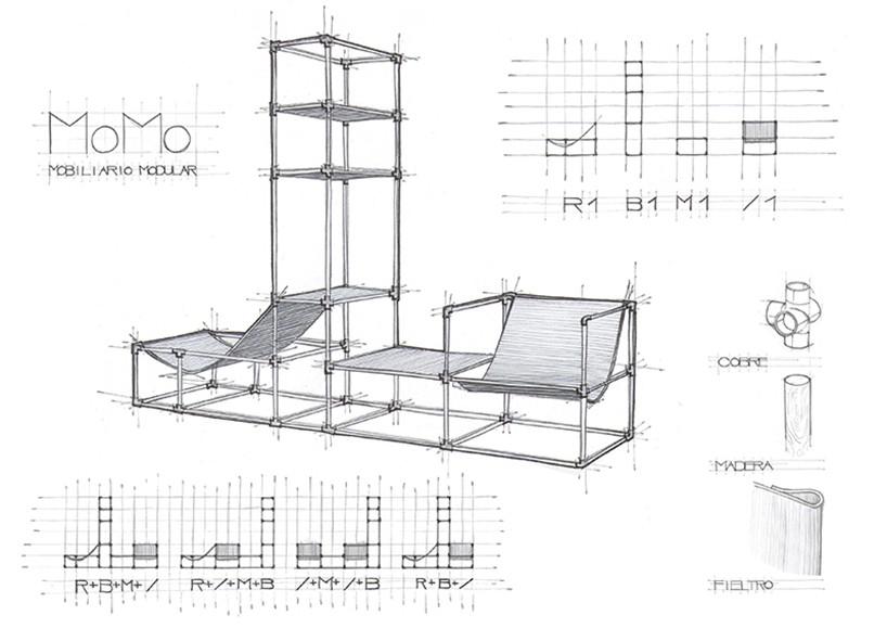 灵活且多功能的momo模块家具
