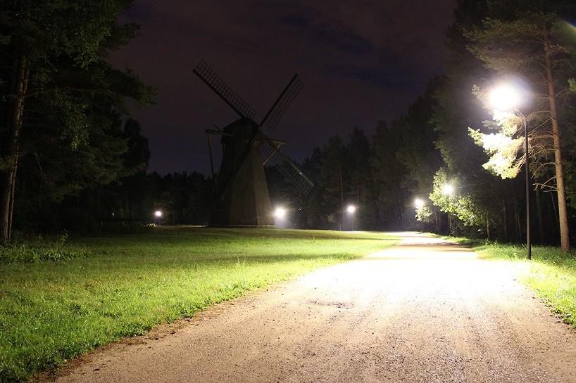 的可调节树枝形路灯图片