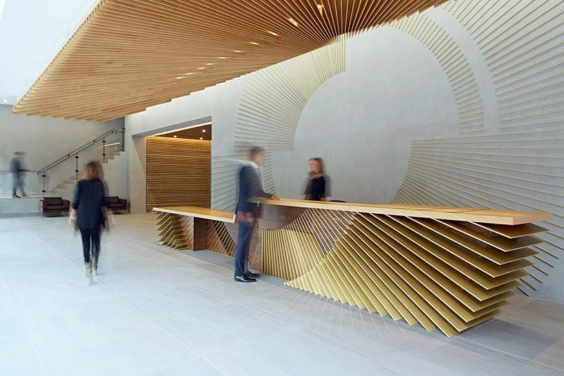 伦敦ampersand大楼前台设计