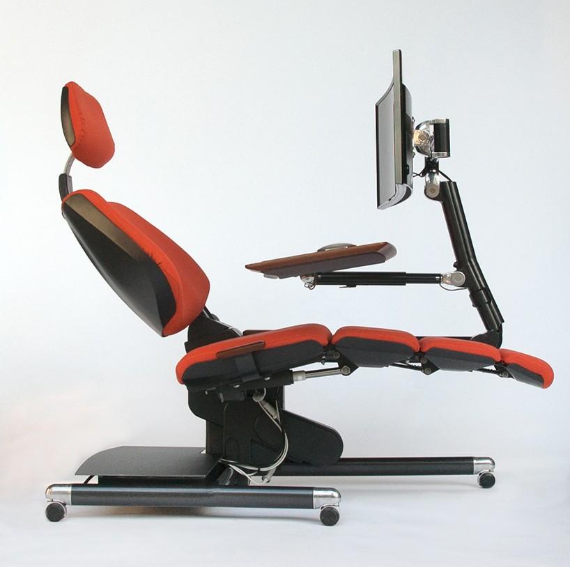 躺着也能工作:新式动态电脑桌椅altwork Workstation将彻底改变我们与计算机的工作方式 设计邦 全球