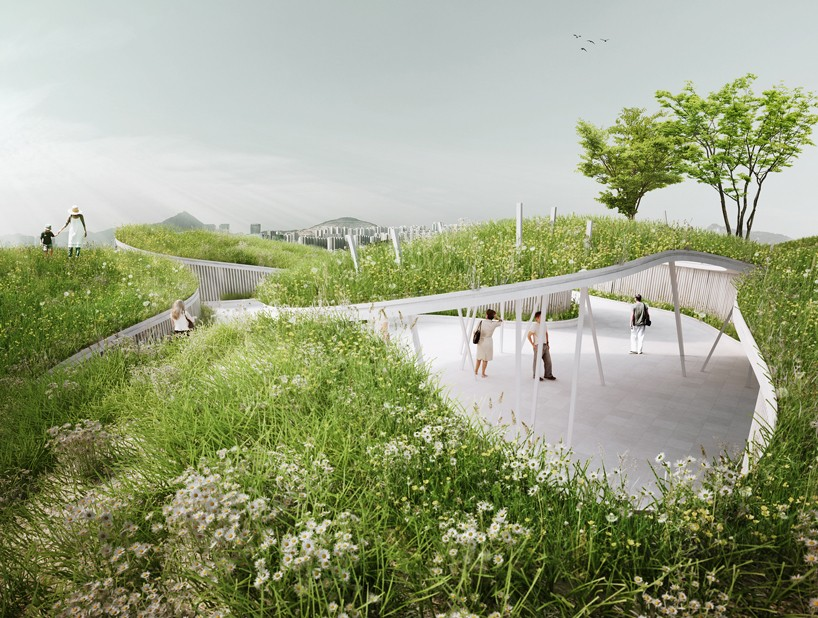 """展館是一首""""水的頌歌""""   人工景觀由精心設計的丘陵山谷和一"""