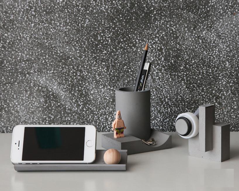 台北22设计工作室推出钢筋混泥土新文具作品