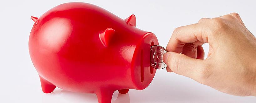 go goldfish用蜡烛设计的小猪储钱罐