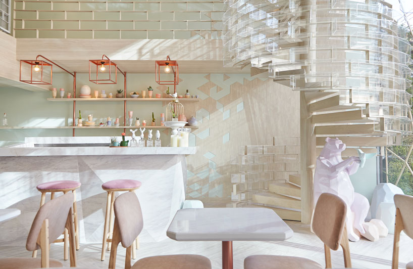 shugaa甜品店室内设计 用抽象糖粒定义甜蜜
