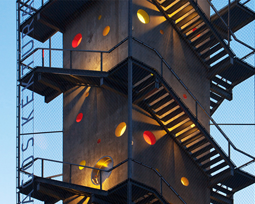 nartarchitects transforms lookout tower into shelters for hikers in hungary