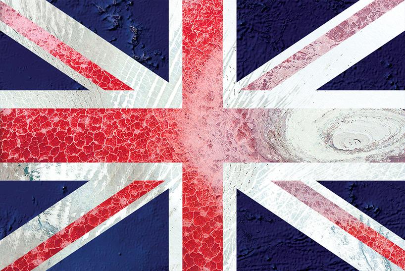 英国国旗—卫星图片:大洋洲,格林兰,坦桑尼亚