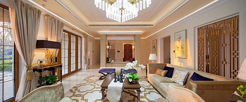 密云别墅位于北京密云水库旁,室内软装设计由国际顶尖酒店设计巨擘