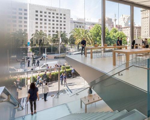 绿意渗透的旧金山联合广场苹果店