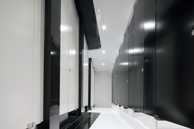 Beyond Future by Alexander Wong Architects (17) - Black & White Restroom