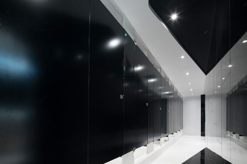 Beyond Future by Alexander Wong Architects (18) - Black & White Restroom