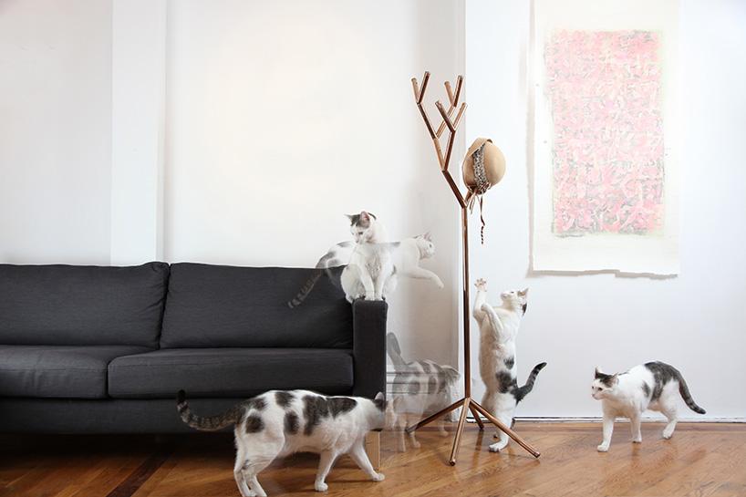 studio打造创意树形衣架y-rack