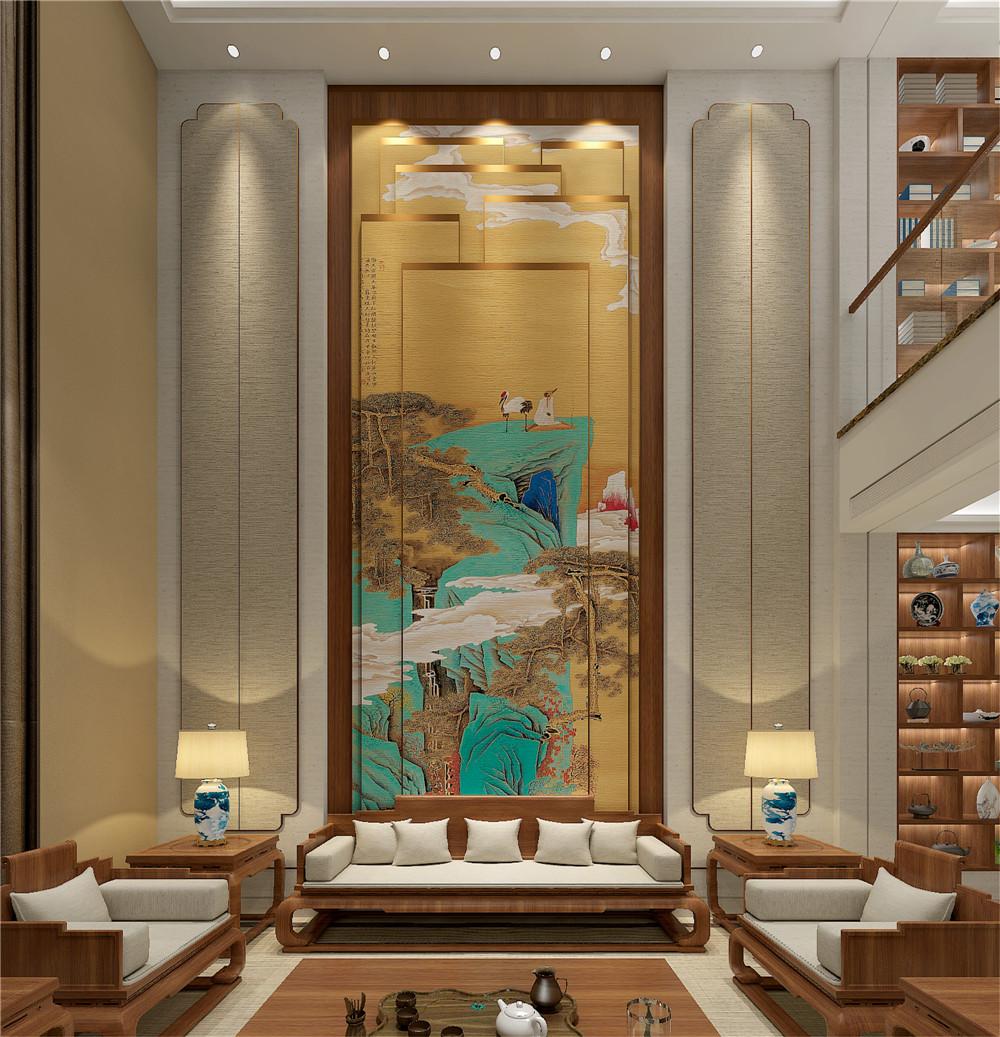 中式设计案例:天鹅湖别墅(新版)