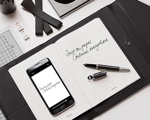 """万宝龙推出传统与现代巧妙平衡的""""Augmented Paper""""智能笔记本套装"""
