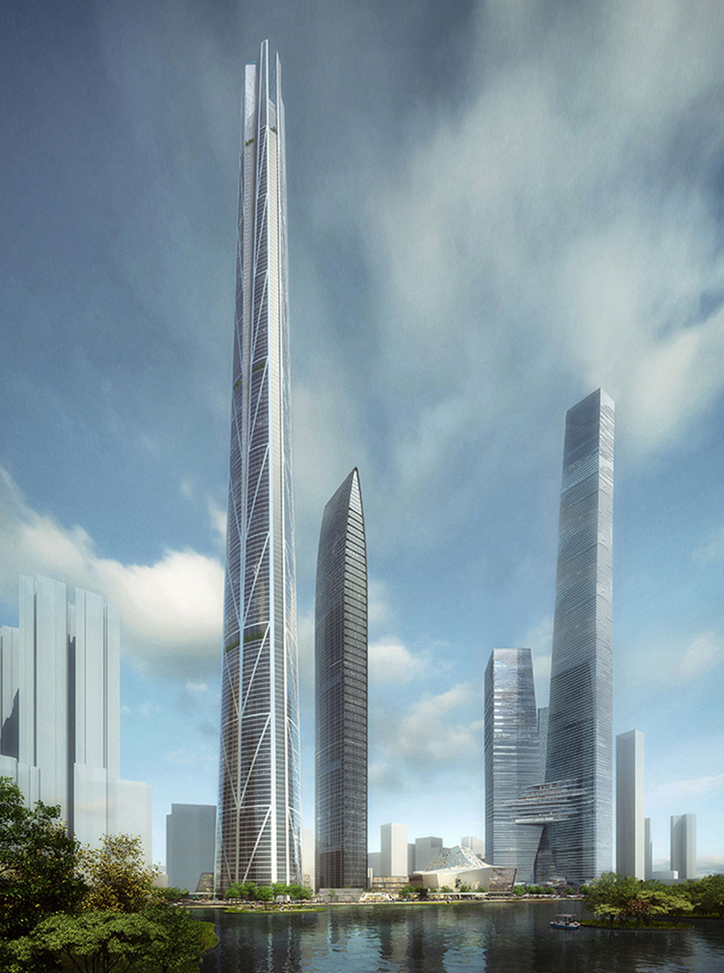 中国最高的摩天大楼 h700深圳塔