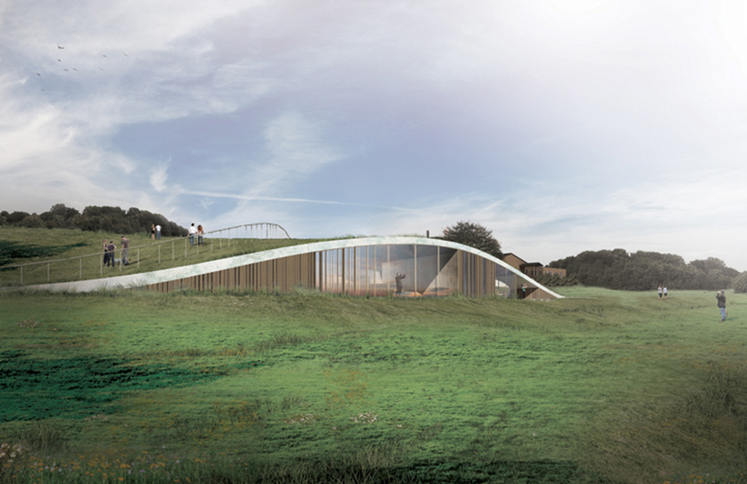 被丹麦自然风光簇拥的CEBRA 的skamlingsbanken访客中心