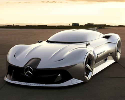 复古与现代结合的梅赛德斯奔驰2040概念车