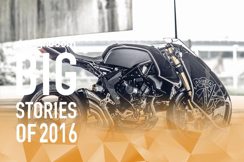 每年我们都会看到一系列在技术性能上大有创新的摩托车,2016年也不例外。 从客户定制的摩托车到具有挑战性的概念车,designboom涵盖了最具吸引力和发人深省的两轮设计。摩托车的趋势是电动马达的集成,以及许多其他技术的进步。作为我们每年一轮的延续,designboom列出了2016年十大摩托车。 雅马哈推出如蝴蝶展翅般优雅的04GEN概念摩托车  雅马哈(yamaha)近日推出新款摩托车:04 GEN,新车以RUN-WAY为概念,宣传影片在女芭蕾舞者优美的身型线条开场,雅致的造型风格展现女性柔和细腻形象