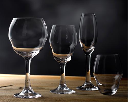nigel coates为nude独家打造手工水晶玻璃杯