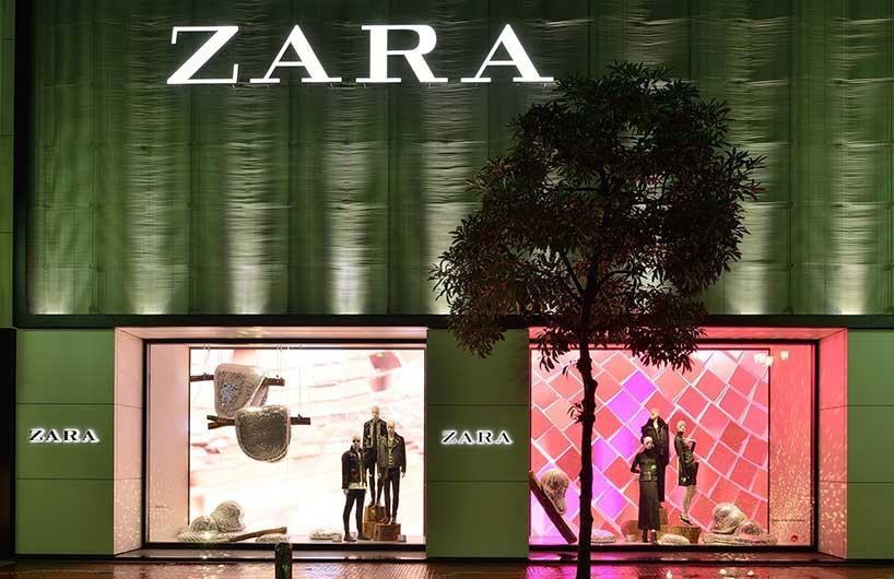 Rotganzen设计为zara打造迪斯科森林主题橱窗