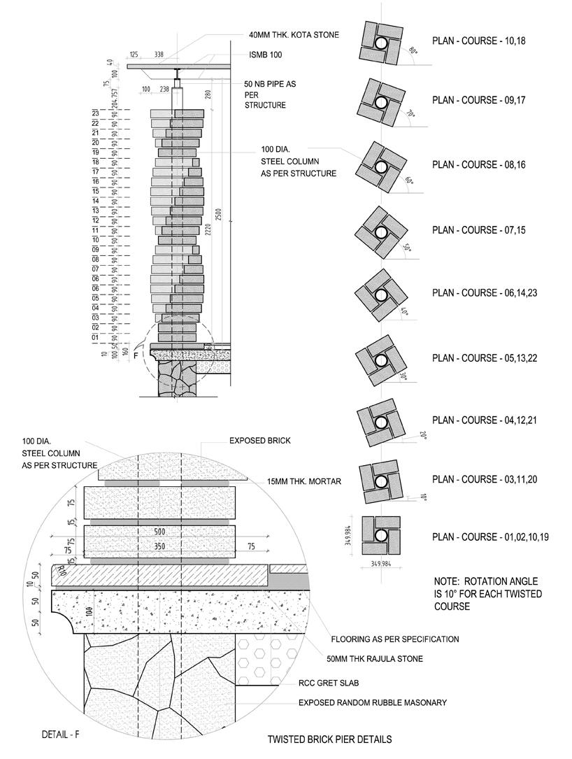 d6thd建造的扭曲圆柱红砖之家