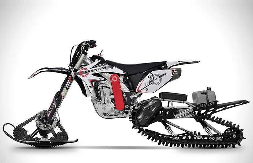 克里斯蒂尼全轮驱动雪地越野摩托车