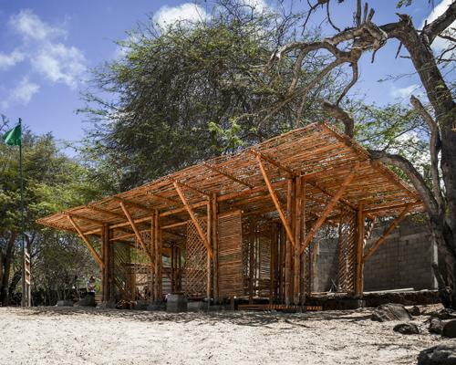 加拉帕戈斯别具一格的竹制遮阳棚