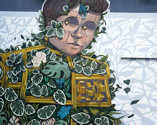 pixel pancho在迈阿密恩伍德墙上的壁画作品