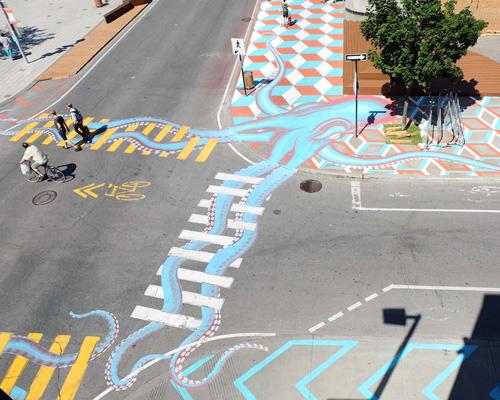 艺术家让大街充满趣味