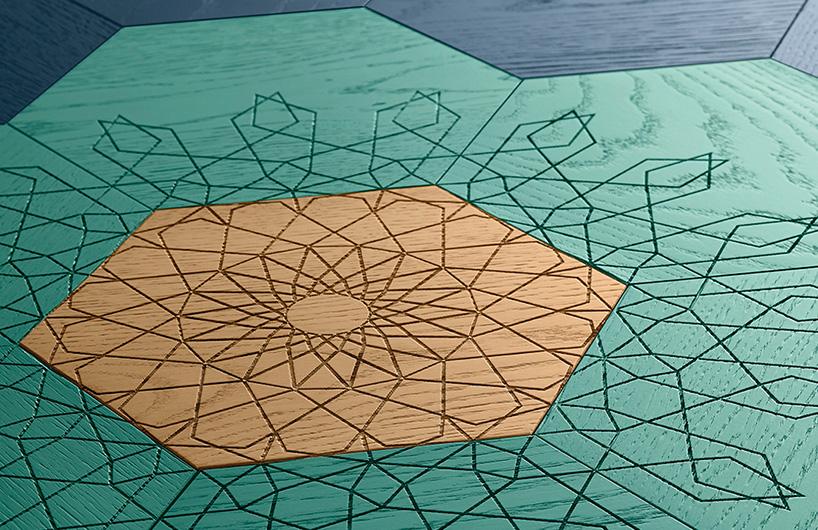 碧莎推新品 六边形几何雕花木地板