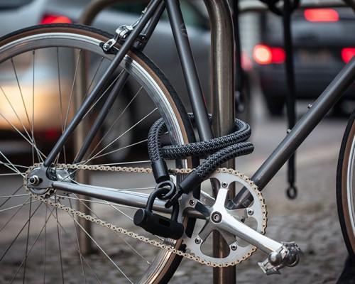 由五种无敌材质编织的Tex-lock自行车锁