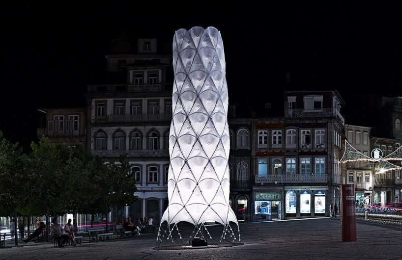 CITA突破传统仅用特质的纺织物建造Hybrid Tower
