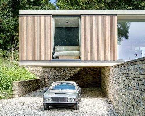 英国现代平房住宅 悬臂而建